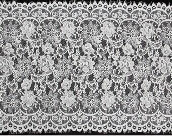 Eyelash Lace Trim ,Floral Wave Soft wedding Lace fabric 3 Yards -3088