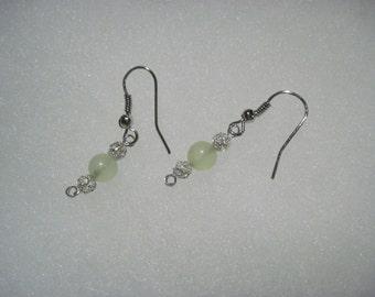 Sterling Silver Precious or Semi-Precious Stone Bead Earrings