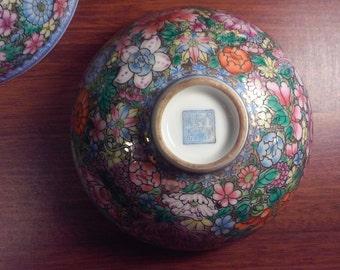 Chinese Rare Asian 'Famille Rose', Falangcai Mille - Fleurs Yongzheng & Qianlong Marked Bowls