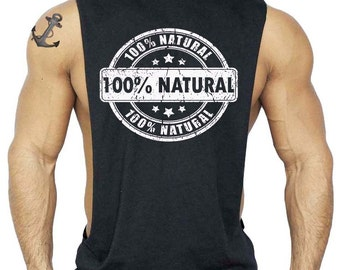 100% Natural  T-Shirt Bodybuilding Tank Top All size S-3XL