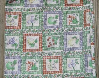 Vintage Square Fruit Tablecloth