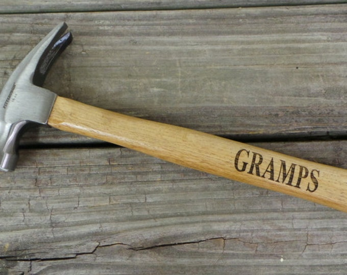 Engraved Wooden Handled Hammer - Personalized Hammer - Gift for Granddad - Gift for Dad - Groomsmen Gift