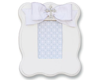 christening frame baptism frame frame with cross frame with bow shower gift frames kids frames baby gift christening gift