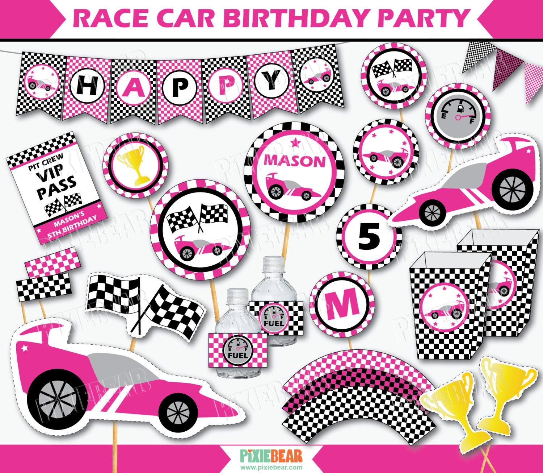 Race Car Party Favor Tags - Race Car Party Favors - Race Car ...