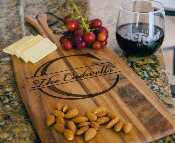 Personalize Cheese Board -Arcadia Wood Cutting Board