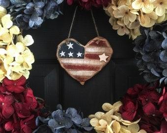 Patriotic Wreath | Americana Decor | Red White Blue Wreath | 4th of July Wreath | Memorial Day Wreath | Summer Wreath  Front Door Wreaths
