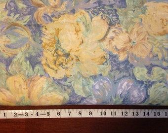 Vintage Floral Polished Cotton Print Upholstery Fabric
