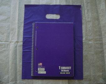 25 pack 12X15 Purple Merchandise Bags Glossy Handles Low Density Handle Gift Bags