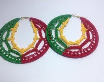 Rasta Crochet Earrings