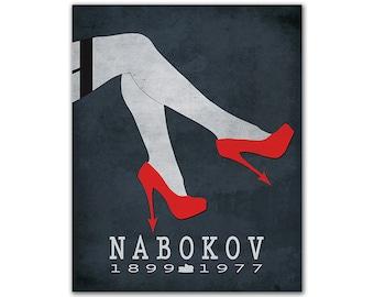 Vladimir Nabokov Lolita - Literature Poster Literature Art Print Book Art Classic Literature Decor - Multiple Sizes