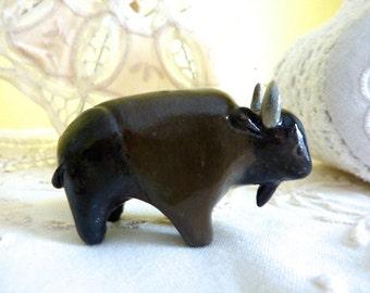 Buffalo Figurine Totem