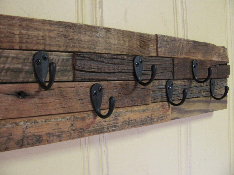 Rustic Key Holder Coat Rack Repurposed Barn Wood By Rustastic. Full resolution  snapshot, nominally Width 1500 Height 1125 pixels, snapshot with #7C744F.