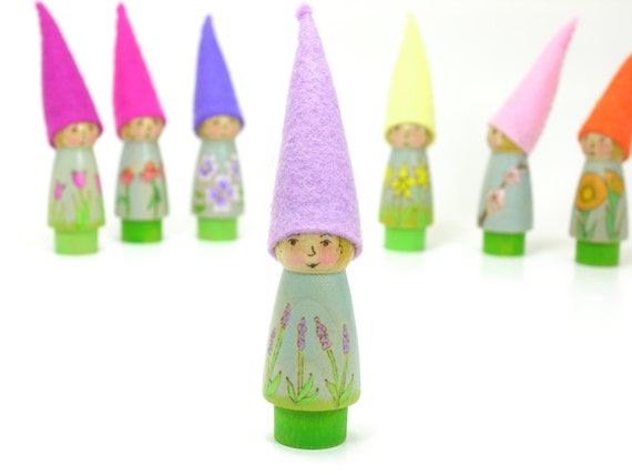... felt gnome, handmade kids toy, nature table, peg doll, wooden kids toy