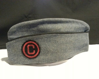 Vintage Military Citadel Cadet Uniform Cap with Insignia