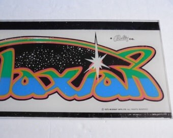 """Galaxian {Midway Bally} Plexiglass Video Game Marquee-23"""" X 9"""""""