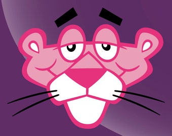 Pink Panther Vintage Style Vinyl Decal Sticker