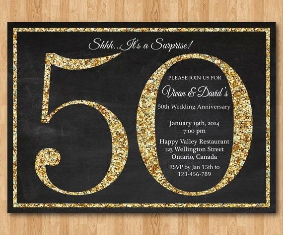 Ben noto Cinquantesimo invito di anniversario di matrimonio a sorpresa. TE35