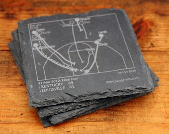 Kentucky Greatest Plays - Slate Coasters (Set of 4)