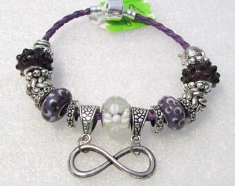 859 - Purple Infinity Bracelet