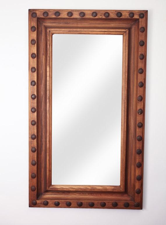 34 Inch Bathroom Vanity: Guadalajara Rustic Mirror-30x34 Inches-Handmade-Western Wall
