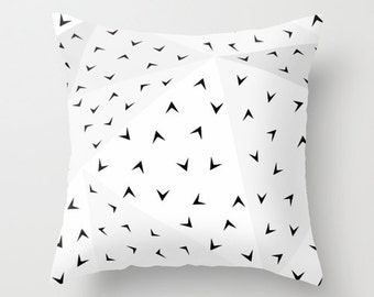 Folded Arrow Pattern Throw Pillow