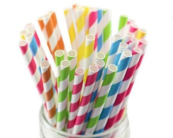 25 paper STRAWS (7 colors available!)