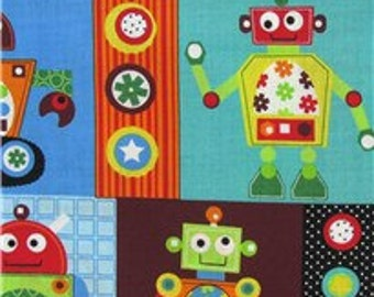 Gearheads Robots 100% Cotton Fabric by the yard