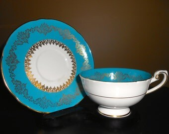 Shelley China Gilded Cup and Saucer