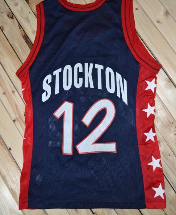 John Stockton Team Usa Champion Jersey Sz 36