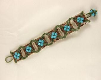 Swarovski Crystal and Seed Bead Bracelet