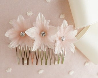 silk flower hair comb, flower hair comb, bridal hair comb