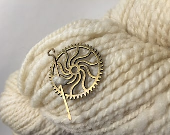 Gas Works: Sundial ~ Shawl Pin