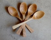 Hand Carved Wooden Teaspoon, Wooden Spoon in Maple