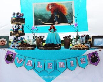 "Brave Birthday Banner - Disney Brave ""Name"" Banner / Merida"