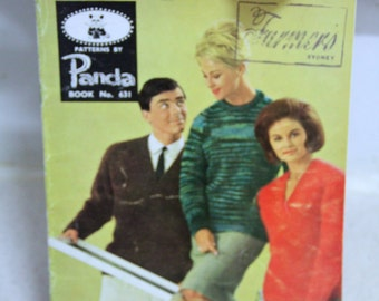 Vintage Knitting pattern - Panda Book no 631