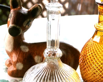 Vintage  Clear Glass Decanter