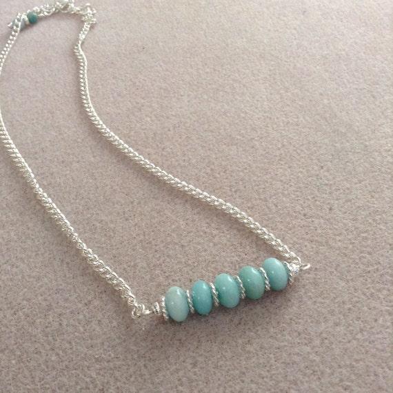 Amazonite Bar Necklace N6151725