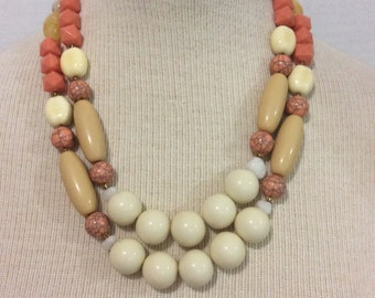 Colina cream brown statement necklace new exclusive