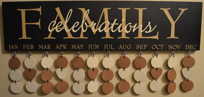 Family Celebrations Plaque Celebration Boards Family