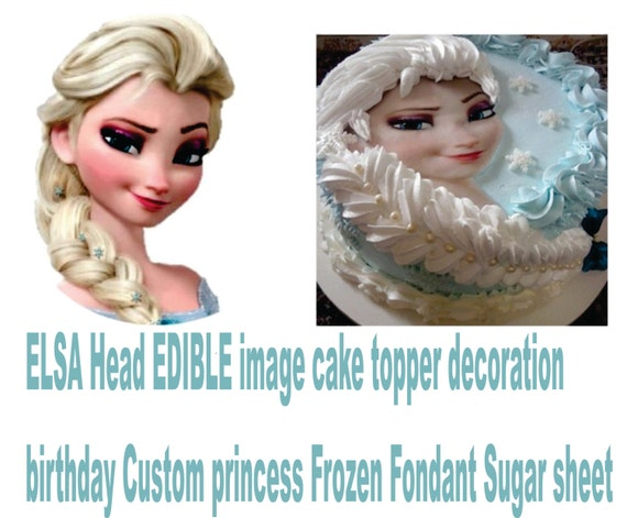 Edible Cake Pictures Frozen : Items similar to FROZEN Elsa EDIBLE cake topper image ...
