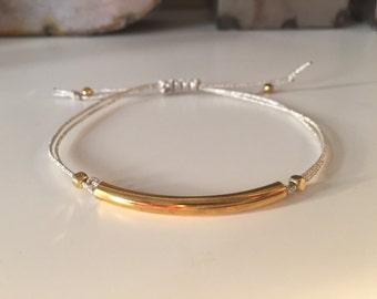 Boho Chic Nylon Bracelet (Metallic)