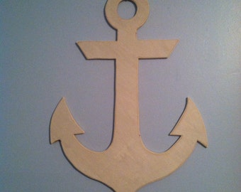 Ships FAST! 3-5 business days!  Wooden anchor, nautical decor, wood anchor, unfinished wooden anchor, decorative front door anchor, symbol.