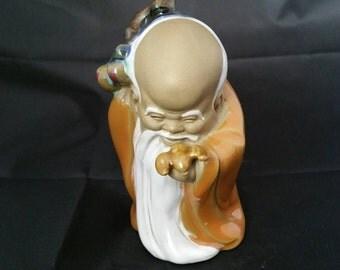 Vintage Chinese Porcelain Figurine Longivity God