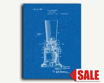 Patent Art - Beverage Mixer Kitchen Art Patent Wall Art Print
