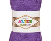 Alize Bahar High Quality Turkish Yarn, 100% Merserized Cotton. Pack of 5 skeins! Free Shipping