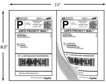 200 labels (100 sheets) - Round edge Peel and Stick