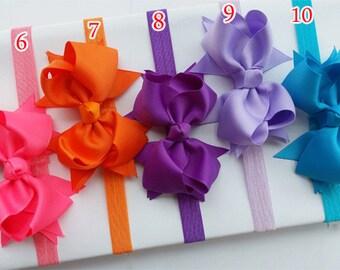 Elastic headbands ,Pick 5,stretch headband ,elastic bands,baby headband with bow,baby girl headband,baby headband,hair accessory H2