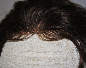 brown deep wave wig