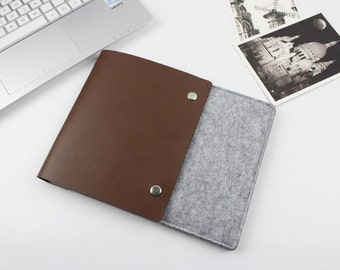 Leather felt Macbook Air 11 sleeve, Macbook 11 case, macbook air sleeve, macbook air case, macbook sleeve, Laptop case, Laptop sleeve SJ230