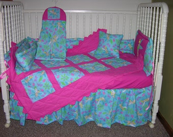New Crib Nursery Bedding Set m/w Tinkerbell Fabric